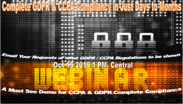 Complete GDPR CCPA Compliancy in Just Days - Months -- Demo700-400