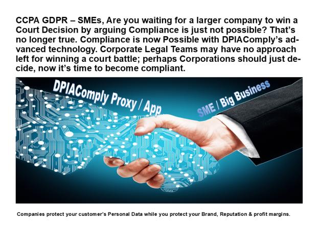 CCPA GDPR – SMEs